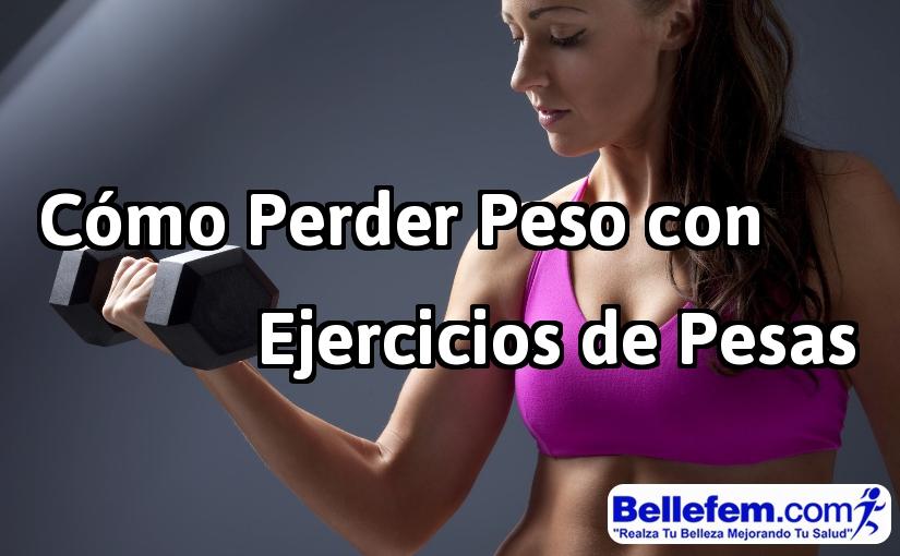 perder peso con ejercicios de pesas