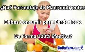 porcentaje macronutrientes perder peso