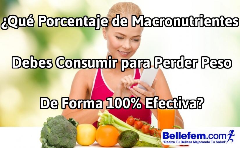 ¿Qué Porcentaje de Macronutrientes Debes Consumir para Perder Peso de Forma 100% Efectiva?