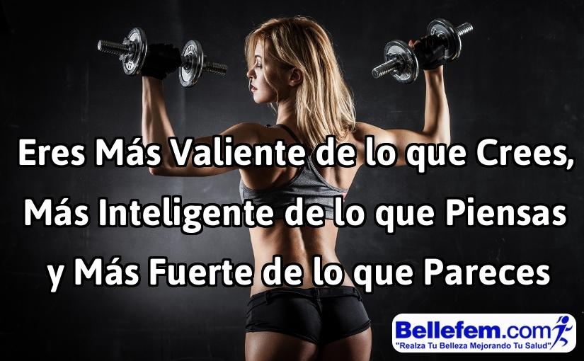 frase motivadora fitness mujer