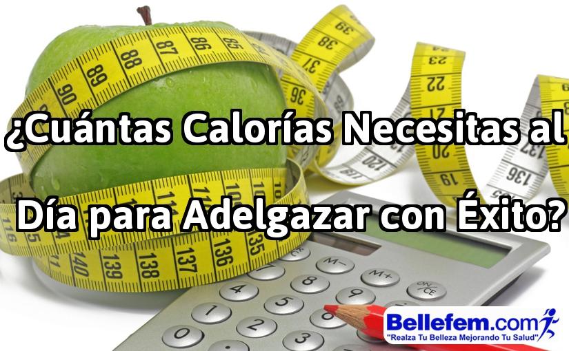 calorías para adelgazar