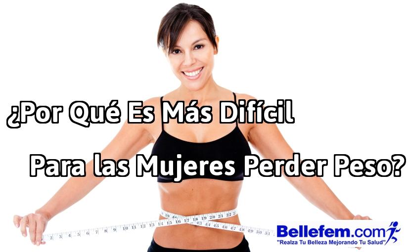 mujeres difícil perder peso